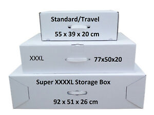 Wedding dress Storage & Travel boxes 3 Sizes. Includes largest box available.