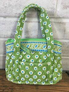 Vera Bradley APPLE GREEN Bitty Betsy Mini Hand Bag Tote Purse - Retired - USA