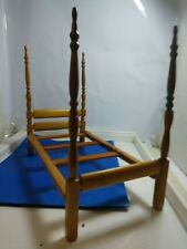 """1950's Strombecker Single Doll Bed """"hand made bedding/doll"""