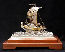 Japanese Sterling Silver Takarabune Treasure Ship Takehiko Seki Lucky Gods Boat