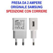 Caricabatterie Alimentatore Presa Muro USB Originale Samsung 2A Galaxy S3 S4 S2