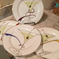 Pier 1 Porcelain Martini Time Salad Plate Set