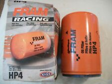 FRAM RACING OIL FILTER P/N HP4, HIGH FLOW LOW RESTRICTION NHRA NASCAR HEAVY DUTY