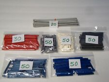 "KNEX RODS MIX Red White Blue Gray 7.5, 5 1/8, 2 1/4""+ K'nex Parts/Pieces Lot"