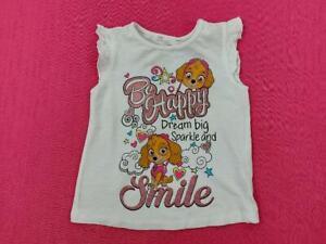 Girls Paw Patrol Be Happy Dream Big Sparkle Dress Top + Sizes