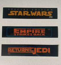 STAR WARS, EMPIRE STRIKES BACK, RETURN OFTHE JEDI small MOVIE THEATER MYLAR LOT