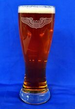 US Air Force Wings custom etched on 23oz pilsner set of 2 (all wings available)