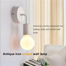2X(blanc loft antique fer simple mur lampe americain pays restaurant bar cou W4)