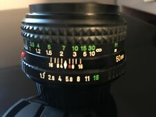Minolta MD 50mm f/1.7 MF Lens For Minolta, 49mm filter size, very clean