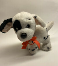Vintage Mattel Disney 101 Dalmations Patch 10 inch Plush Dog Puppy HTF Paper Tag