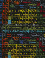 Periodic Table Print on Black B/G-Timeless Treasures-BTY-Science-Elements