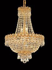 World Capital Empire 16x20 8 Light Pendant Crystal Chandelier Light gold