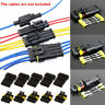 15 Kits 2/3/4Pins Way Sealed Waterproof Electrical Wire Connector Plug Terminals