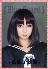 Sailor Moon Saturn Hotaru Tomoe short Black Purple Hair Cosplay Costume Wig #4