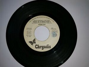 JETHRO TULL/GENTLE GIANT Thick as a brick Pt 1 + 1 WL JB Promo Italy 1972