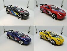 "Set of 4: New 5"" Kinsmart Toyota Celica Racing Decal Diecast Model Toy Car 1:34"