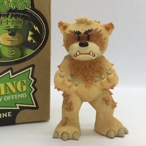💚 'BAD TASTE BEARS' COLLECTABLE MONSTER BEAR FIGURINE 'WOLFIE' BOXED!