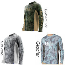 Huk Men's Icon Camo Subphantis Glacier Medium Long Sleeve Shirt