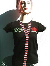 Punk Berry rock gótico Crown slips Patch camisa emo diva tatuaje t-shirt s 34/36