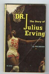 1974 ??? basketball softcover book Julius Erving Dr. J New York Nets ABA FrPL