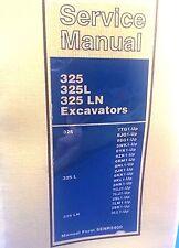 CAT CATERPILLAR 325, 325 L, 325 LN EXCAVATOR SHOP REPAIR SERVICE MANUAL
