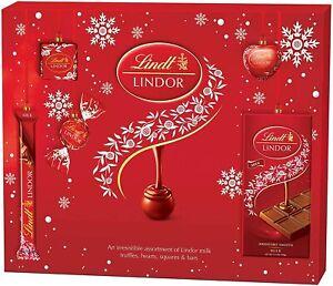 Lindt Lindor Milk Chocolate Gift Box For Christmas, 234g