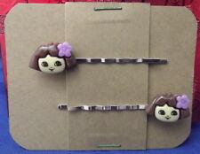 DORA THE EXPLORER Character Handmade Bobby PIn Hair clips - Set of 2 SALE