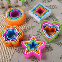 EE_ 5PCS AMAZING UNIQUE HEART FONDANT CAKE COOKIE SUGARCRAFT CUTTERS MOLDS TOOL