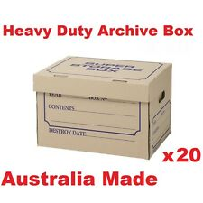 20Archive Boxes for Moving & Packing Documents Storage Cardboard Cartons