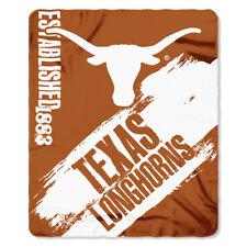 50 X 60 In. Texas Longhorns NCAA Light Weight Fleece Blanket Painted Series