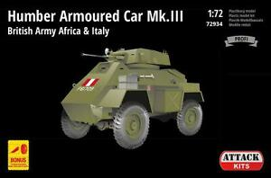 Attack 72934 1/72 Humber AC Mk III British Army in Africa and Italy Brand New