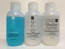 CND Pure Isopropyl Alcohol, Nourishing Remover, Scrub Fresh 59 ML/ 2oz. Set of 3