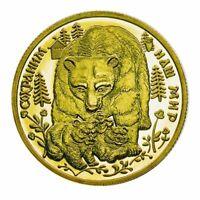 Russian Animal Bear Golden Commemorative Coin Collection Gift Metal Souvenir