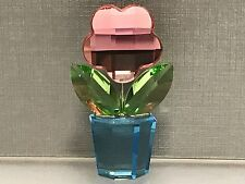 Swarovski Figurine Flowerpot Flower 1 7/8in Top Condition