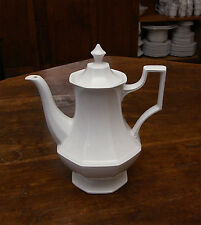 """JOHNSON BROTHERS """"HERITAGE WHITE"""" - Coffee Pot + Lid"""