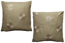 Pack of 2 Circle-Spiral Design Brown Cushion Covers