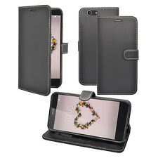 ZTE Blade A512 Wallet Book Flip in Various Colours Case Cover Black