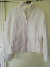 Ladies MARKS & SPENCER Winter White Jacket Size 12