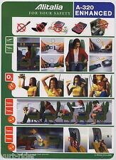 ALITALIA A 320 ENHANCED Airline SAFETY CARD 64502026 06/2009 sc525 aa