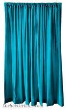Living Room Window Treatment Drapery Turquoise Velvet 72 inch Curtain Long Panel