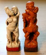 "HUGE KAMA SUTRA CHESS MEN (AND WOMEN) EROTIC TANTRA TEMPLE SET - K = 5"" (744)"