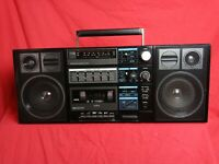 Sanyo C30 AM/FM Vintage Radio Cassette Tape Player Ghettoblaster Boombox 1980's