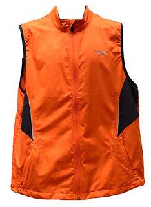 "Men's Brooks Shelter Technology Lite Running Vest •Size Large Neon Orange ""MINT"""