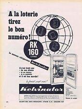 PUBLICITE ADVERTISING 045 1956 KELVINATOR frigidaire