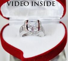 Cushion Anniversary White Gold Excellent Fine Diamond Rings
