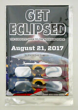 Get Eclipsed Solar Eclipse Guide Book 21 Aug USA +2 FREE Glasses ISO CE Approved