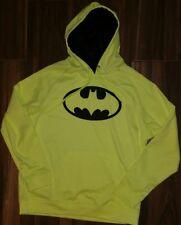 NWT Men's Neon Yellow Batman Hoodie Justice League XL
