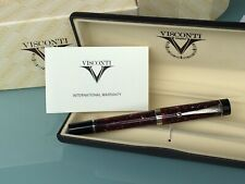 VISCONTI  CLASSIC PEN RED MARBLE FOUNTAIN PEN BOXED*NEW FACTORY CONDITION*