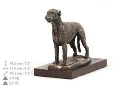 Irish Wolfhound, dog bust/statue on wooden base , ArtDog , Ca