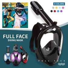 US Diving Mask Full Face Snorkel Swimming Goggles Mask Anti Fog for Adult Kids